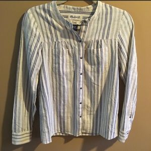 Madewell Striped Button Down Shirt With Pockets